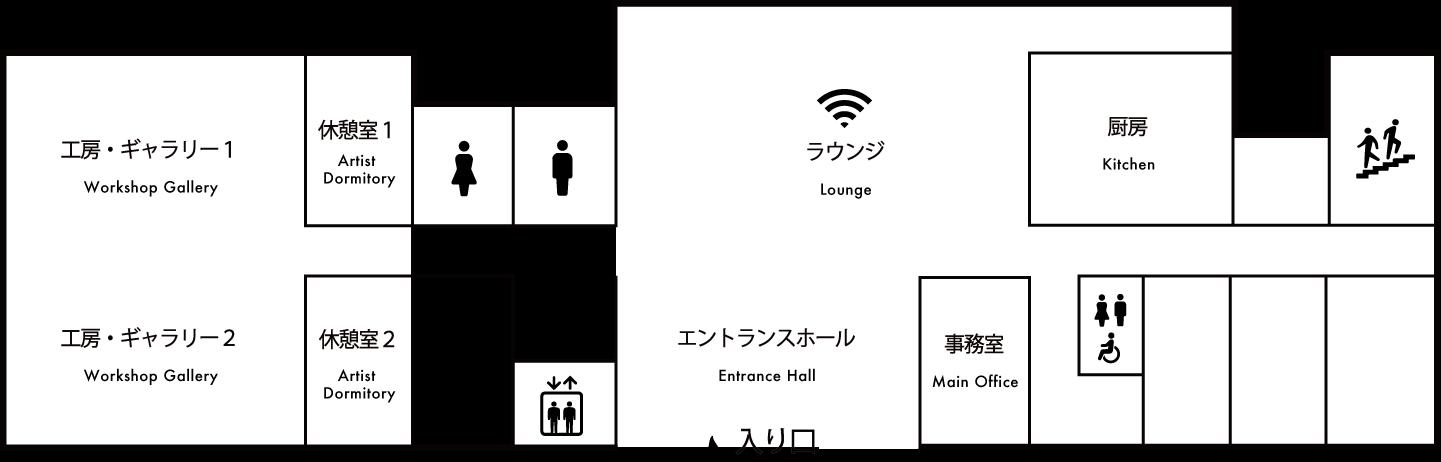 館内マップ 1F 画像