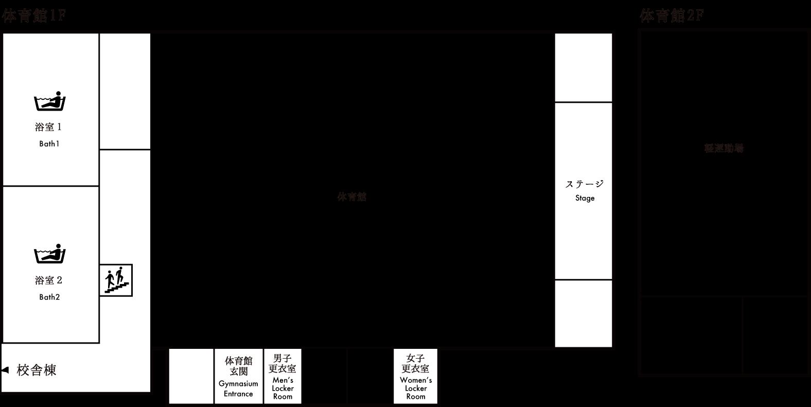 館内マップ 体育館棟 画像
