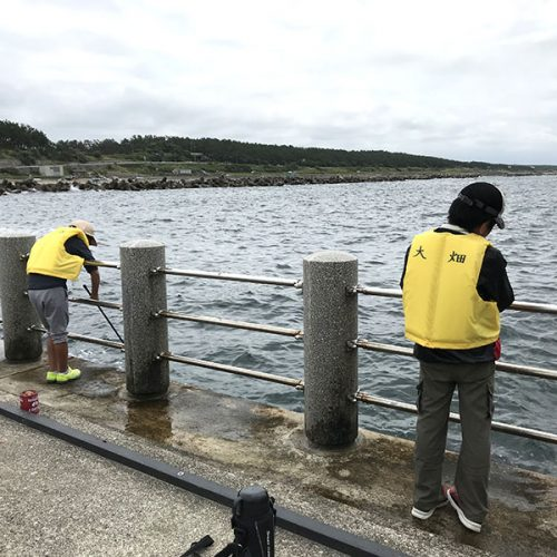 魚釣り体験