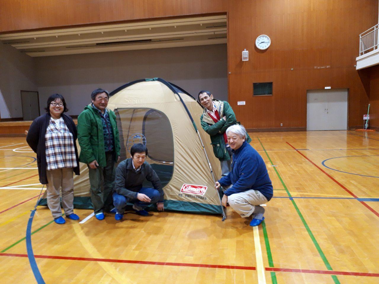 キャンプ用テントのご寄付をいただきました。