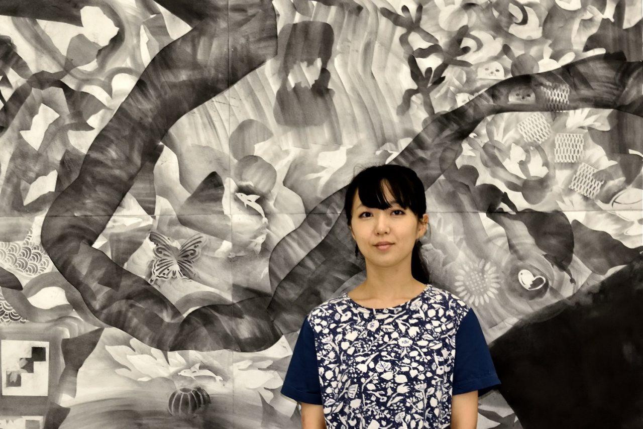 写真2:野原万里絵ワークショップ「ふしぎな道具で絵を描く1日」