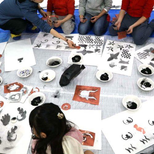 野原万里絵ワークショップ「ふしぎな道具で絵を描く1日」