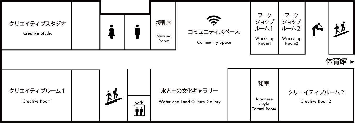館内マップ 2F 画像