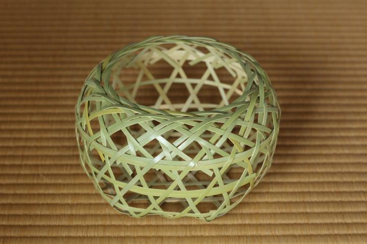 メイン写真:竹かご編みワークショップ