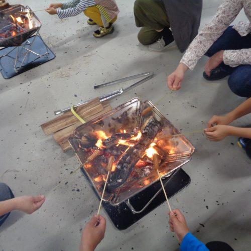 デイキャンプに挑戦(たき火・カートンドッグ)